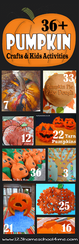 36 Pumpkin Crafts and Kids Activities for Fall - so many fun, creative, and fun pumpkin crafts, kids activities, and games for toddler, preschool, kindergarten, and first grade #pumpkins #craftsforkids #fallactivities #toddler #preschool #kindergarten #firstgrade