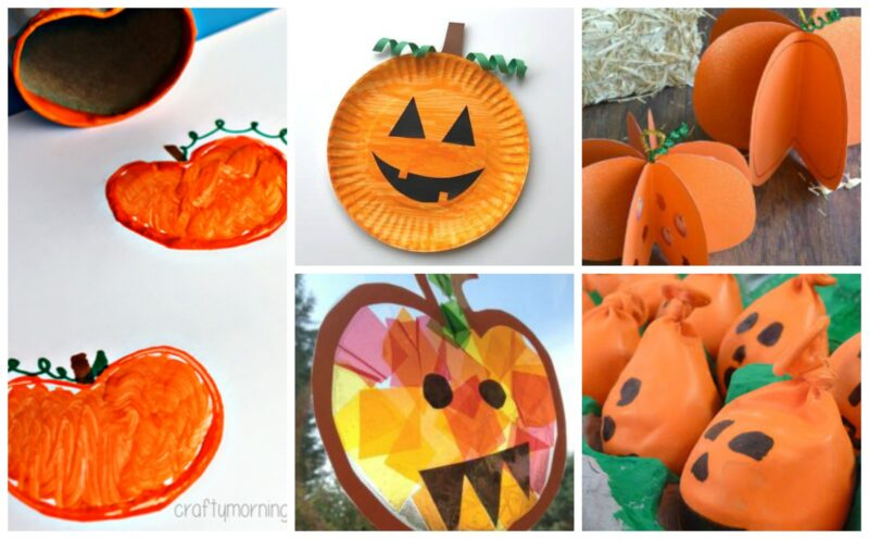 Pumpkin Crafts for Preschoolers, toddlers, and kindergartners for this fall, Halloween, and Thanksgiving