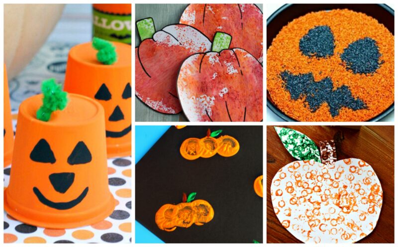 fun to make Pumpkin Crafts for Toddlers