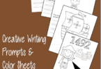 FREE Columbus Day Writing Prompts & Coloring Sheets