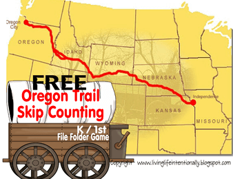 Oregon Trail Skip Counting Game