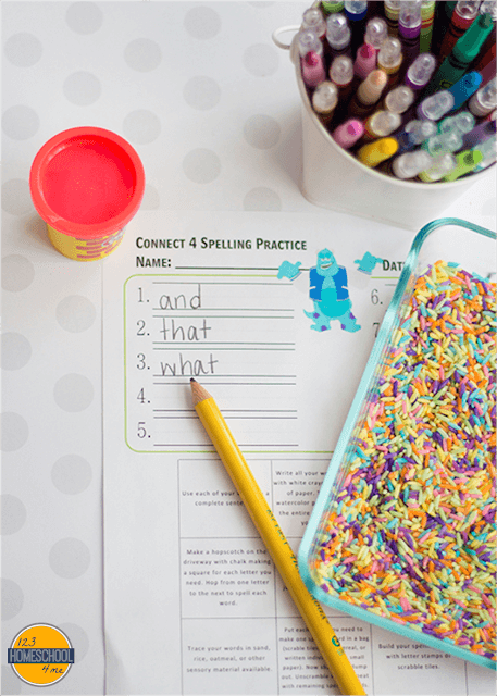 free printable ideas to practice spelling words