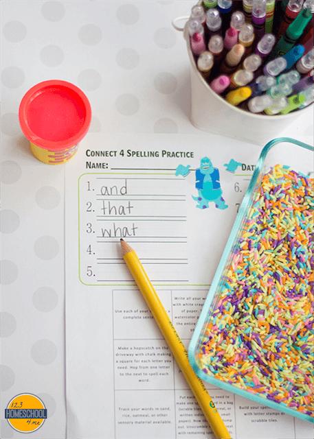 free printable ideas to practice spelling words