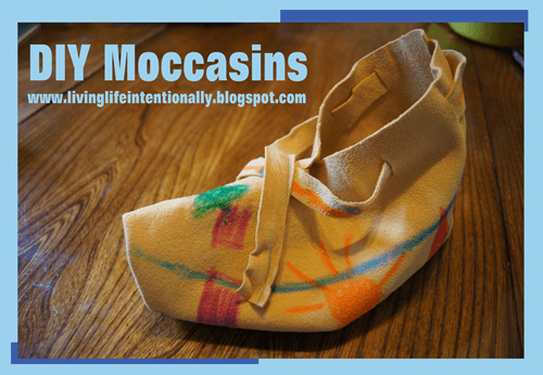 hands on homeschool history - how to make mocassins for kids