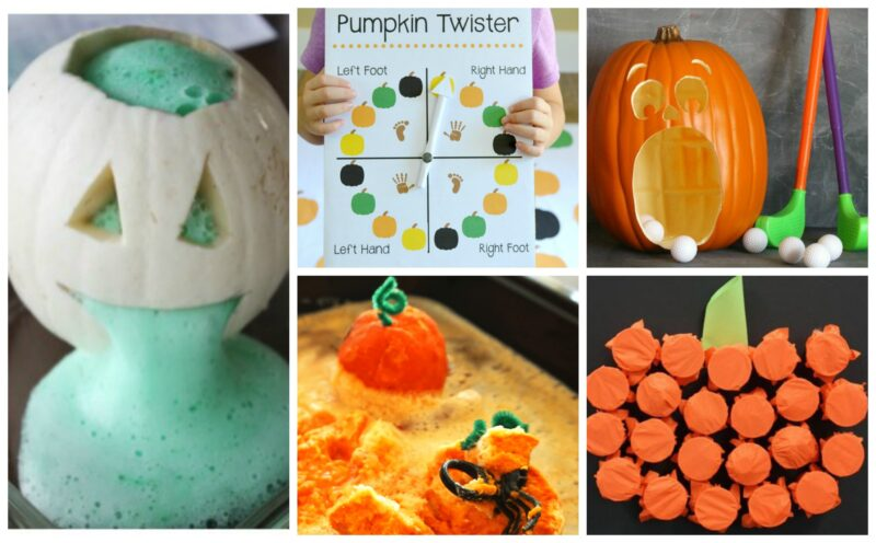 lots of FUN pumpkin activities for kids of all ages to try during October