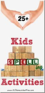 25 fun, clever spelling activiites for kids from kindergarten, first grade, grade 2, grade 3, grade 4, grade 5, and grade 6