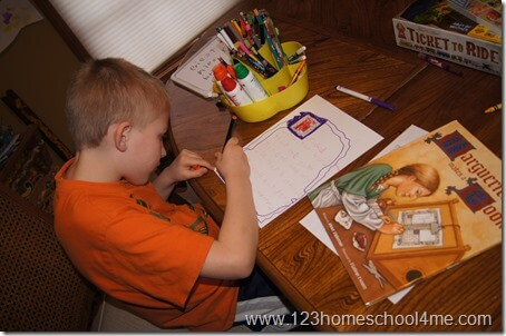 Creating Illuminated Manuscript for Hands on Homeschool History Unit: Medieval Times