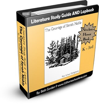 The Courage of Sarah Noble Literature Study Guide - help kids dive into this novel and work on reading comprehension. Perfect for kindergarten, first grade,  2nd grade, and 3rd grade students. #literatureguide #readingcomprehension
