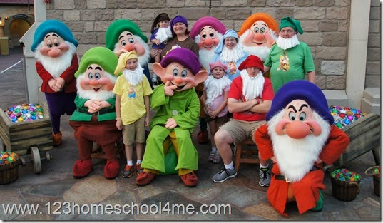 Seven Dwarfs at Disney World Halloween Party