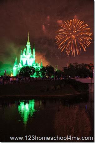 Magic Kingdom Fireworks HalloWishes