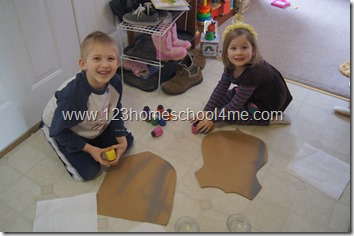 Creating our own shields - hands on homeschool history