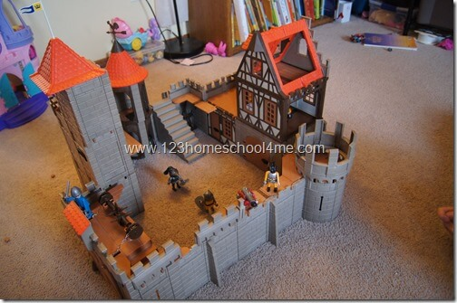 Playmobil Castle Play for Homeschool Medieval History Unit
