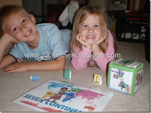FREE Roll into Geography Game for Preschool and Homeschool