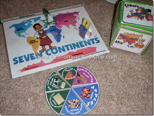 7 Continents Game for Preschool and Kindergarten