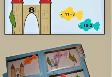 FREE Aquarium Math Subtraction - this is a fun math game to help kids practice subtraction. This is a fun, hands on activity to practice math with first grade and 2nd grade kids. #subtraction #firstgrade #mathgame