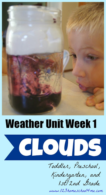Weather Unit - Clouds for Kids #science #preschool #homeschooling
