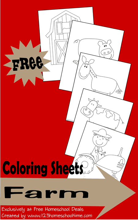 FREE Farm Coloring Sheets