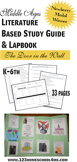 Middle Ages Literature Based Study Guide for Homeschool Language Arts