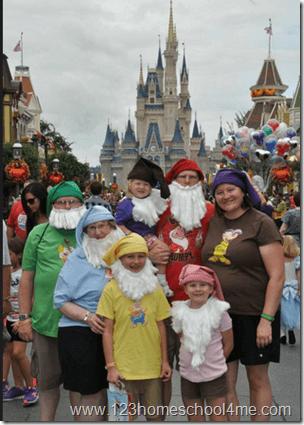 Disney Family Costume Seven Dwarfs Disney World