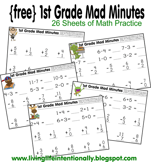 First Grade Math Worksheets | 123 Homeschool 4 Me
