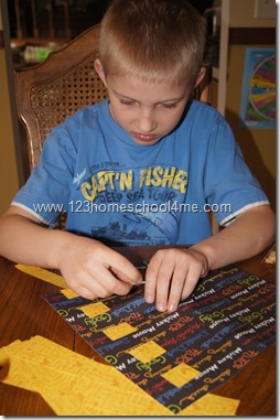 Kids Activity Making Medieval Tapestries with paper