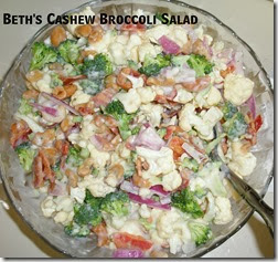 Bacon Broccoli Cauliflower salad Recipe
