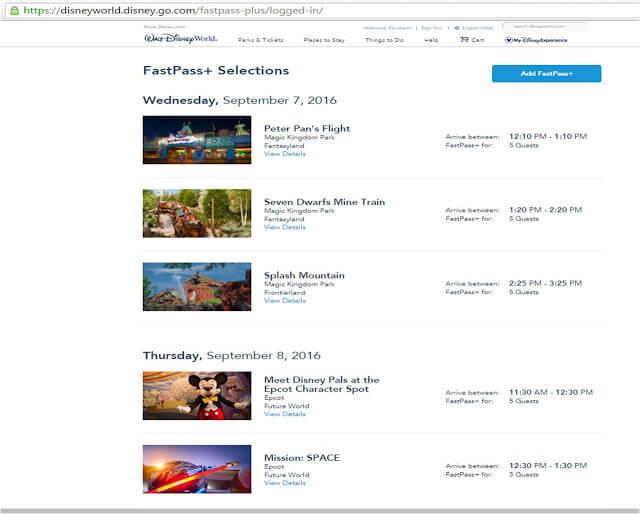 Best choices for Disney World Fastpass+