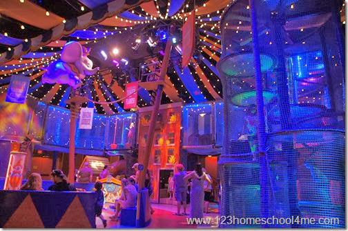 No need to waste a fastpass+ on Dumbo the Flying Elephant - kids will want to play in the new circus play area while they wait!