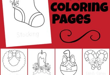 Celebrate the holiday season this December with these super cute, free Christmas coloring pages. These simpleChristmas coloring sheets are a fun, no-prepChristmas worksheet for toddler, preschool, pre-k, kindergarten, and first grade students. Kids can color the ornament, holly, wreath, stocking, candle, candy canes, present, bells, Christmas tree, and Merry Christmas greeting for a fun Christmas Activity.