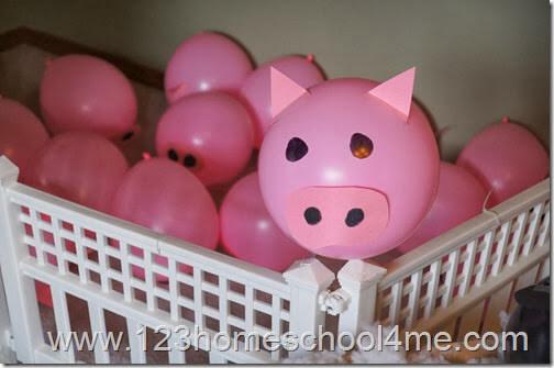 Farm Party Pig Balloon Decorations