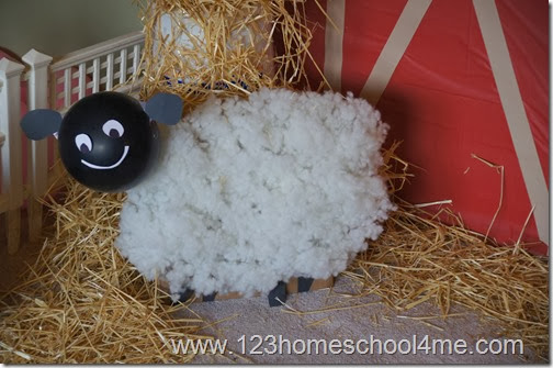 Farm Party Sheep Decoration and Sheer the SHeep Farm Game