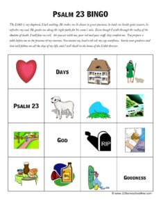 Psalm 23 Activity Sheet