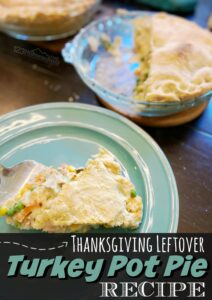 If you are looking for a mouthwatering recipe that uses up leftover turkey, you will go nuts over this EASYTurkey Pot Pie Recipe. I have been known to cook a whole turkey just to get leftover meat to make this flavorful recipe for dinner.