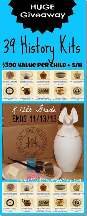 HUGE Homeschool giveaway valued at $390