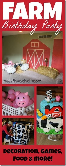 Farm Birthday Party - so many fun farm themed crafts for kids, farm activities, and super cute birthday cake (party theme). Great for kids of all ages and preschool classes.