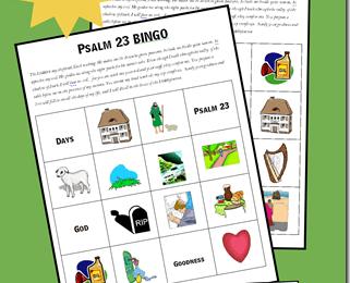 FREE Psalm 23 Bible Bingo