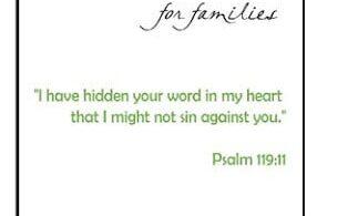 FREE Family Scripture Verses