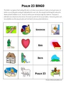 free Psalm 23 printable