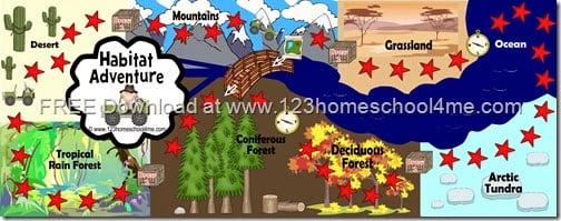 Free Printable Science game - Biomes, Animals, taxonomy for Homeschool kids