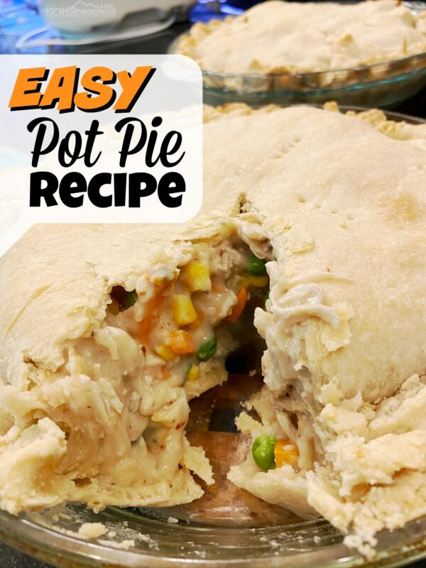 easy pot pie recipe you can make in less than an hour from start to finish. Yum