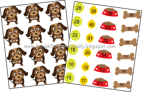 FREE Printable Addition Math Games