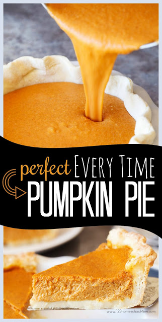 Perfect EVERY TIME Pumpkin Pie Recipe - Pumpkin pie and Thanksgiving go together like peanut butter and jelly! But making the best pumpkin pie recipe is tough! Well, after years of perfecting our recipe I've happy to say we've come up with the perfect Thanksgiving desert recipe for November. It will come out perfect every time; plus it is fluffy and oh so delicious!