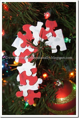 Christmas Craft for Kids - Candy Cane Ornament