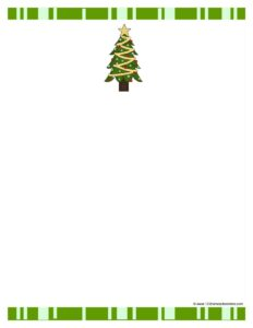 free printable christmas tree paper