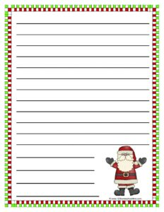 santa clause printable christmas paper