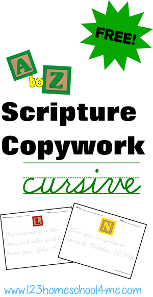 writing pages - free bible verses copywork