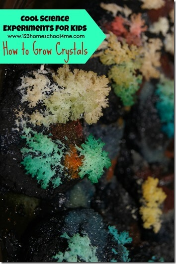 science experiments for kids - how to grow crystals