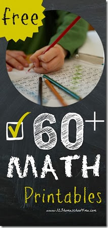 60+ free math printables for kids Preschool - 2nd Grade