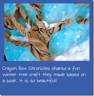 Winter Tree Craft from Crayon Box Chronicles