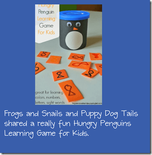 Penguin learning game from Frogs and Snails and Puppy Dog Tails